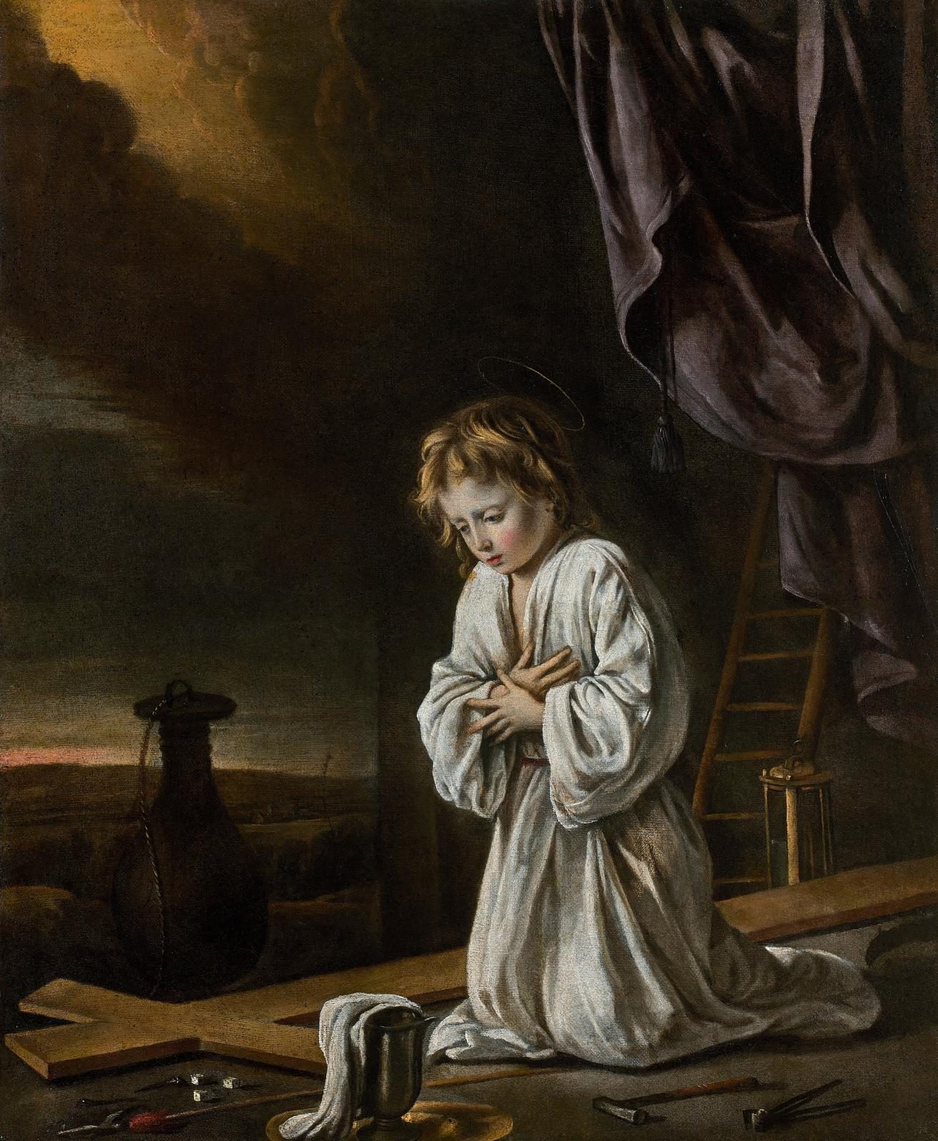 €3,596,000 Le Nain brothers, «Jésus enfant en adoration de la Croix», oil on canvas, between 1642 and 1648, 72 x 59 cm.