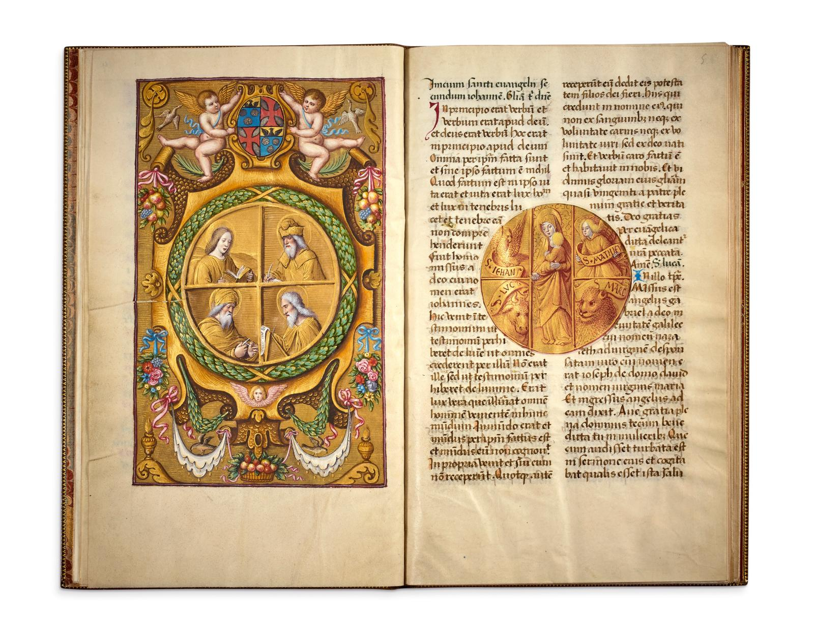 """€4,290,000 """"Petau"""" Book of Hours according to the rite of Rome, France, Tours, c. 1495, in Latin, illuminated manuscript on parchment, containing 16 m"""