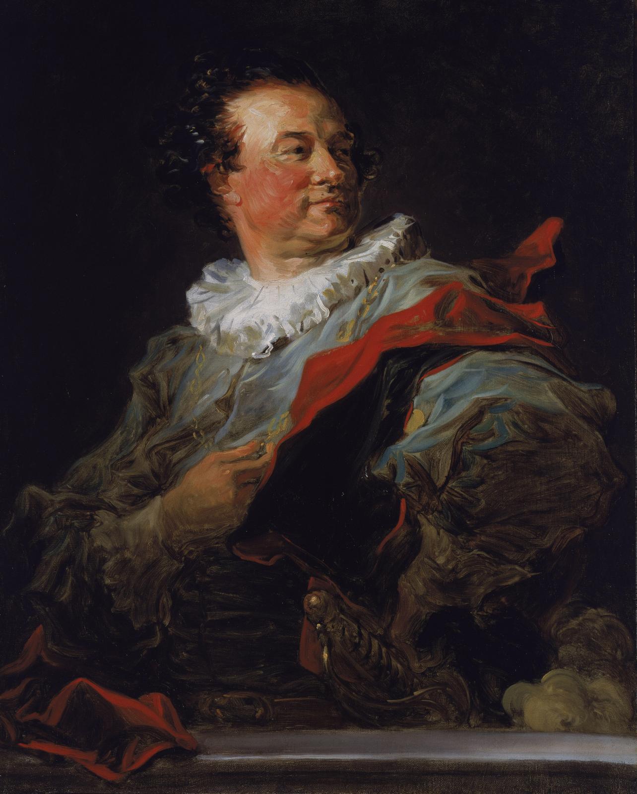 Jean-Honoré Fragonard (1732-1806), François-Henri, duc d'Harcourt, huile sur toile, 81 x 65 cm.