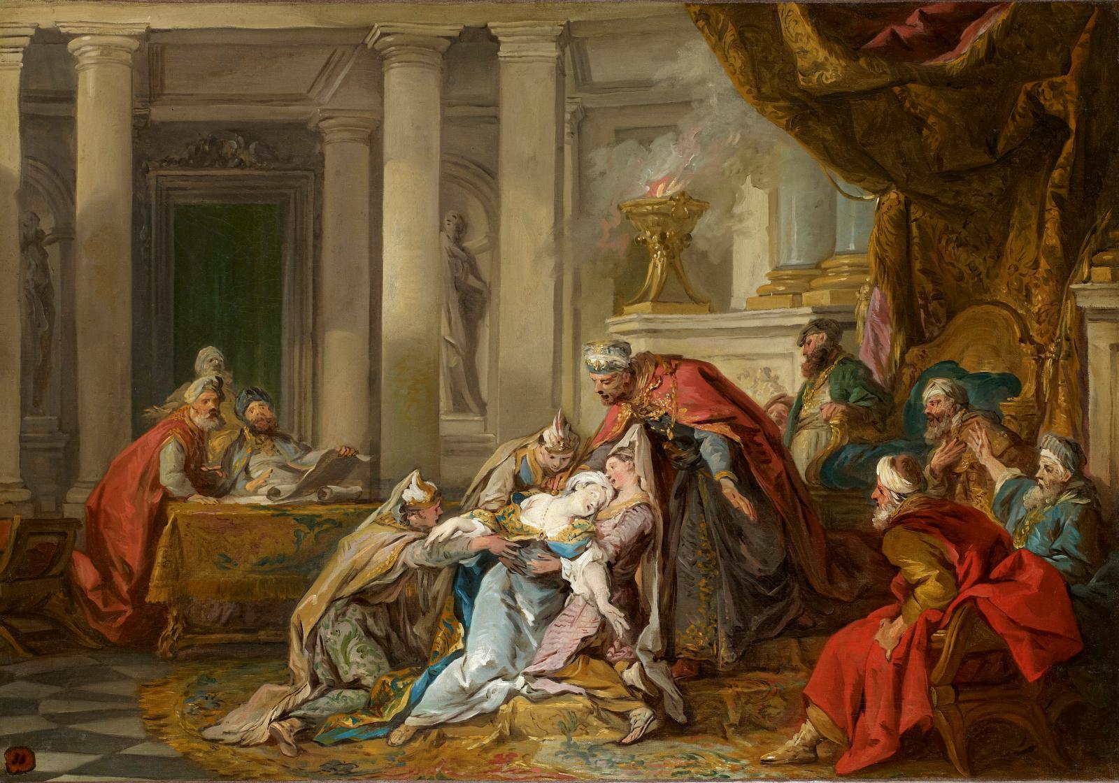 Jean-François de Troy (1679-1752), L'Evanouissement d'Esther, huile sur toile, 55 cm x 80 cm, collection privée, par courtoisie de la galerie Eric Coa