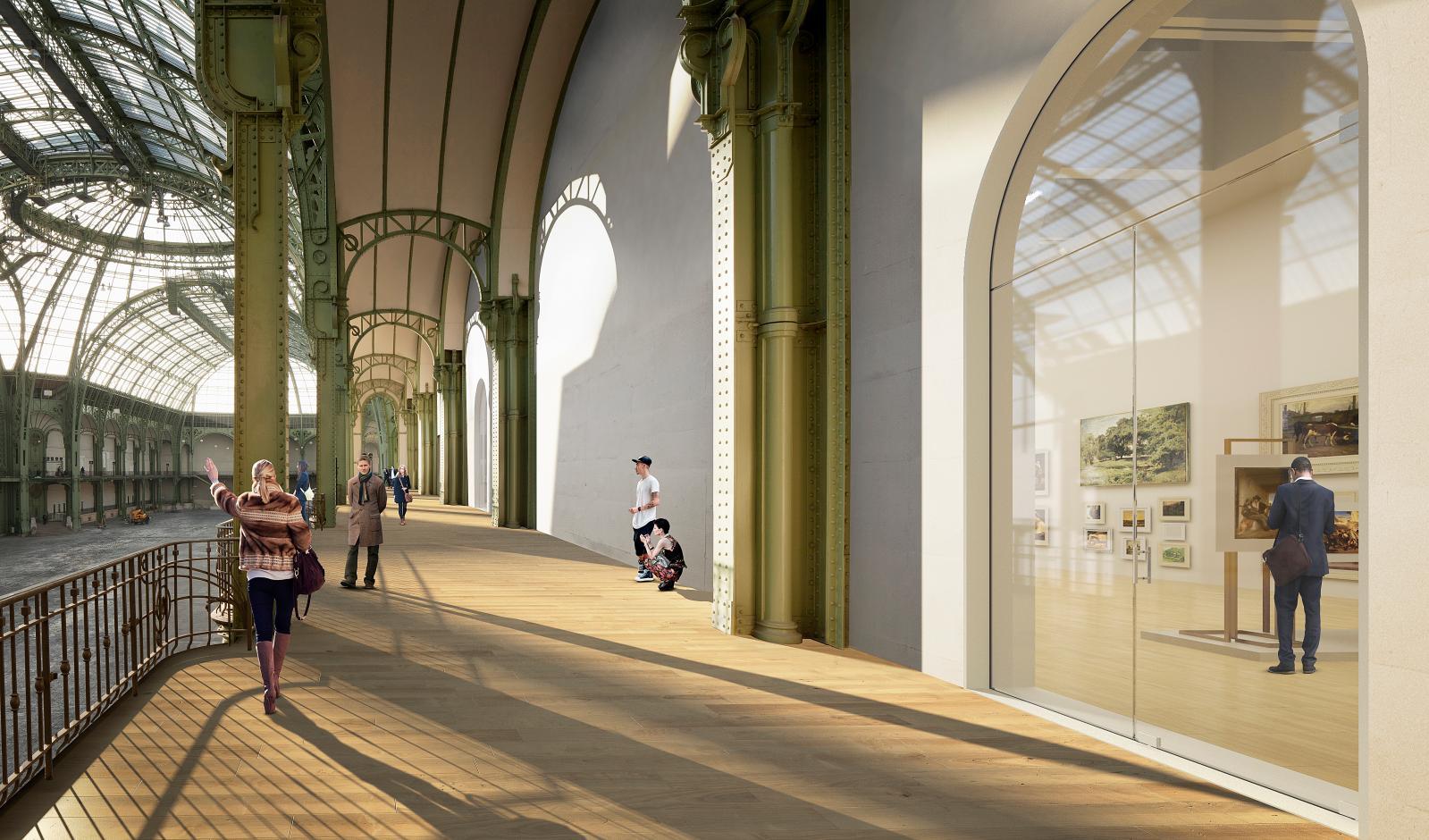Grand Palais, balcons de la Nef, simulation 2018.