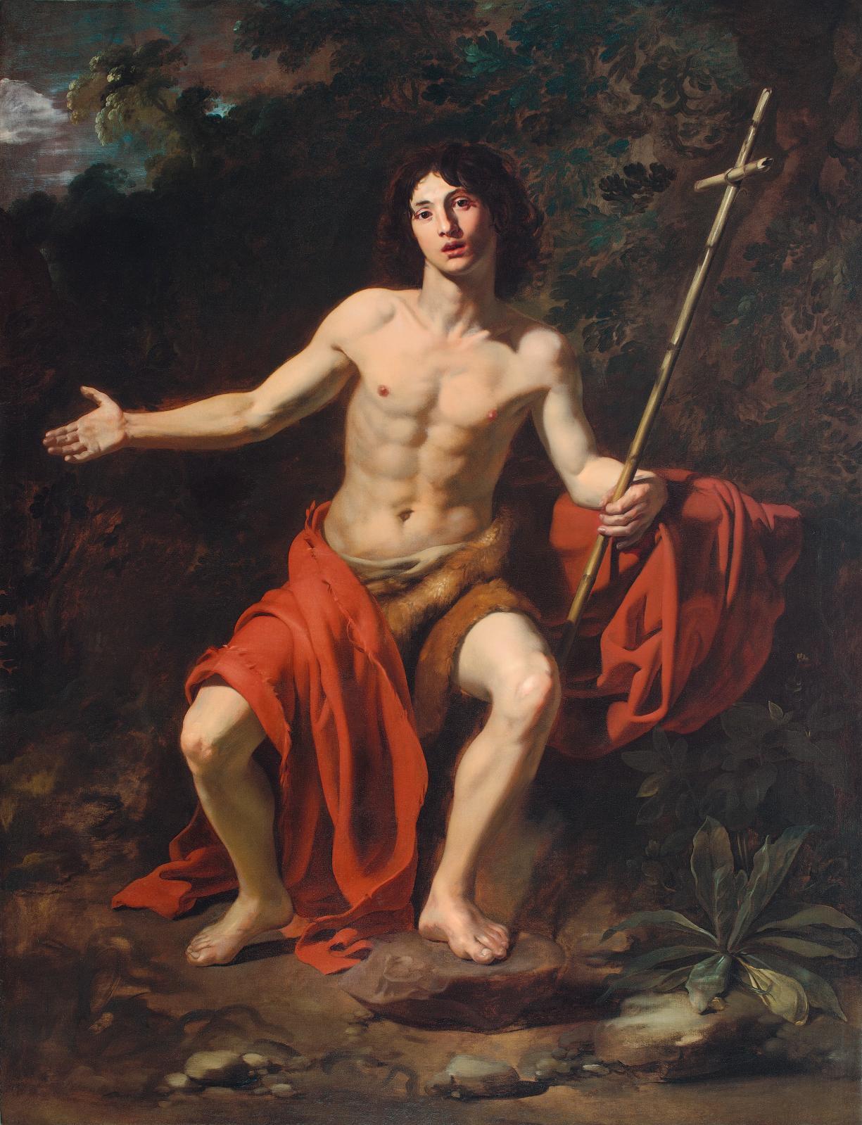Nicolas Régnier, Saint Jean-Baptiste, huile sur toile, non exposé. Rome, Fondazione di Roma