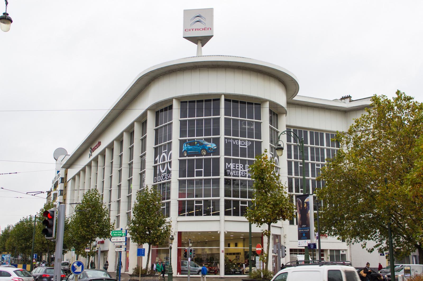 Pôle culturel Citroën à Bruxelles, où doit s'installer la fondation Kanal-Pompidou.