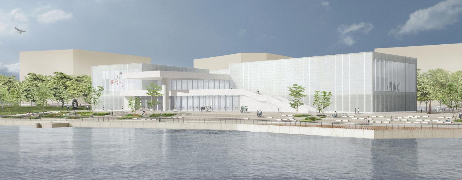 Projet pour la future implantation du Centre Pompidou à Shangai.