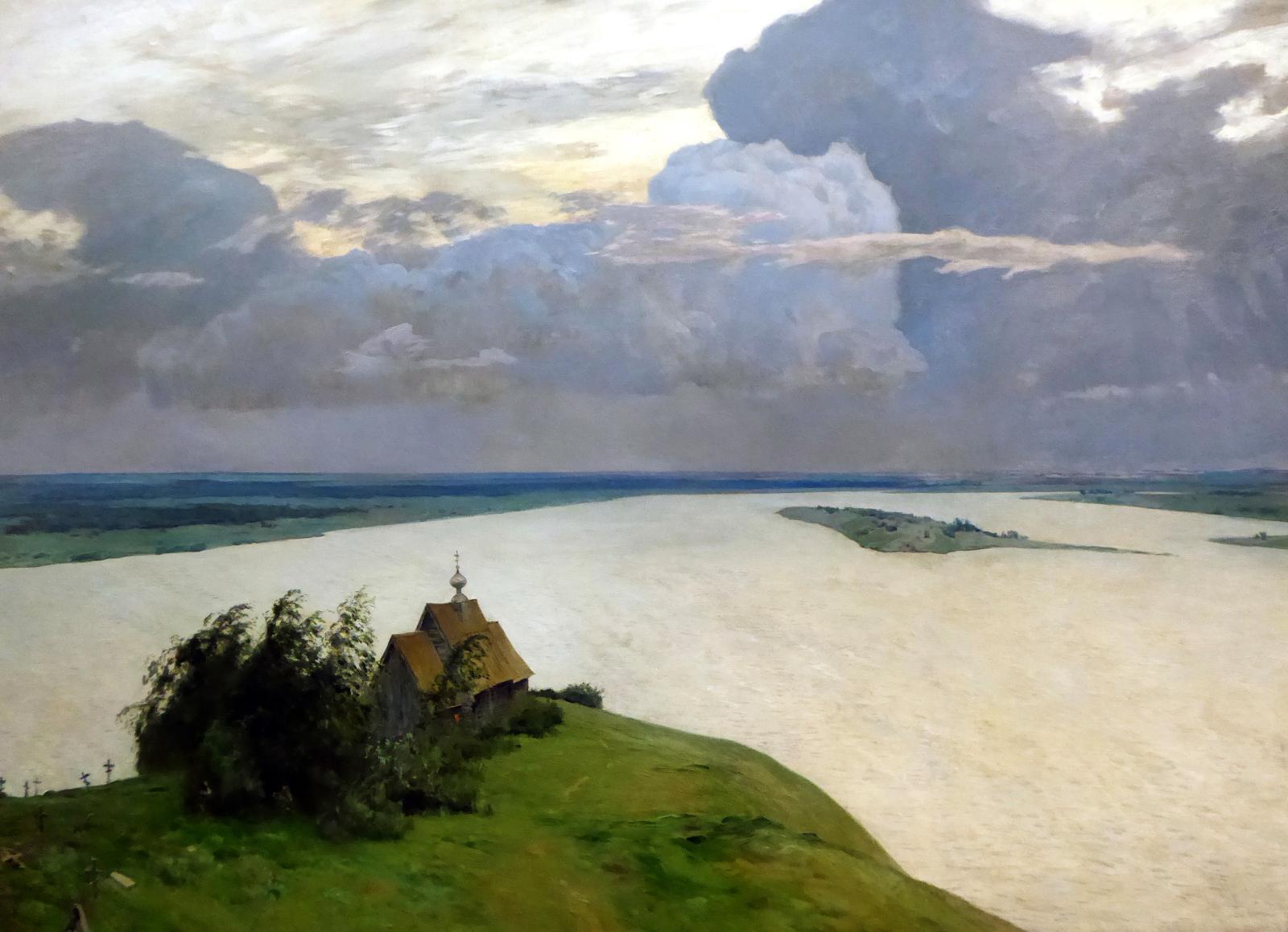 Isaac Levitan (1860-1900), Au-dessus du repos éternel, 1894, huile sur toile, 150x206cm, Galerie Tretiakov.