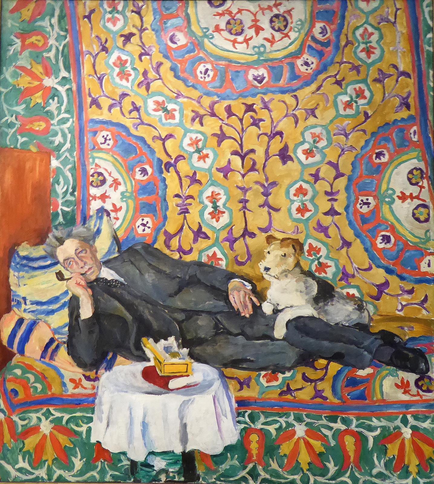 Piotr Konchalovski, Portrait de V.E. Meyerhold, 1938, huile sur toile, détail, Nouvelle Galerie Tretiakov.