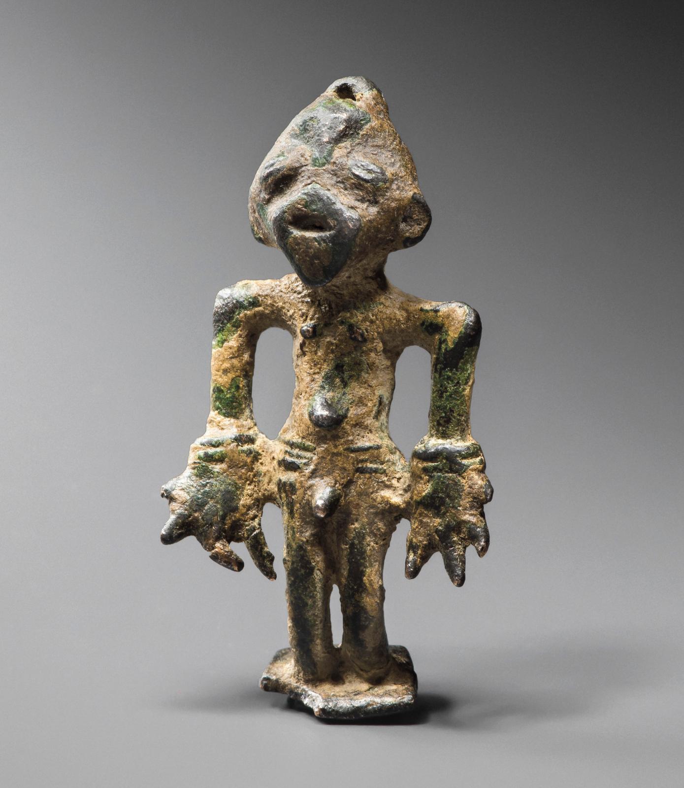 Burkina Faso, bronze, proto-voltaique, h. 5,5cm. Galerie Renaud Vanuxem.