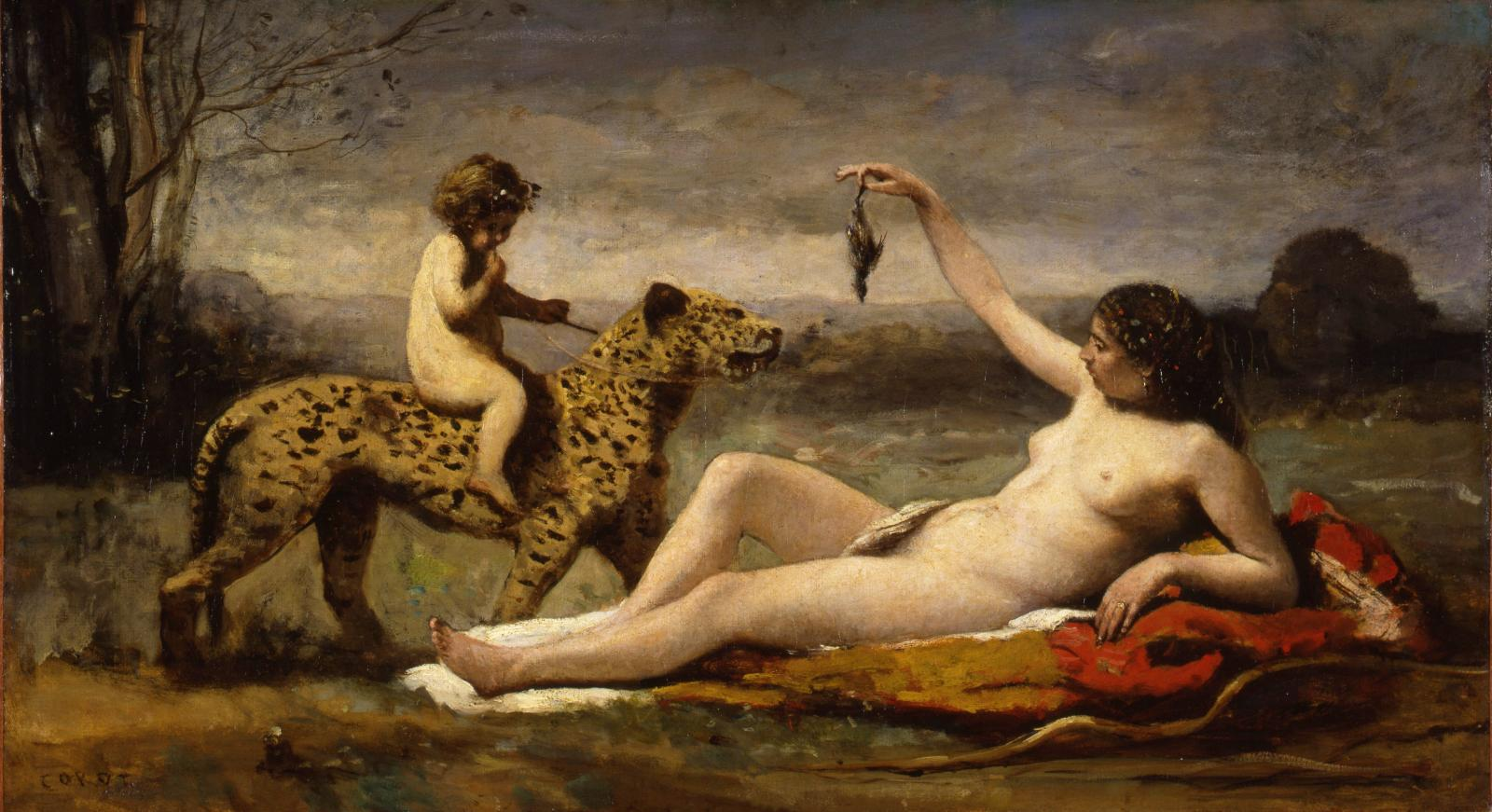 """Bacchante à la panthère"", c. 1855-1860, oil on canvas, Shelburne (Vermont), Shelburne Museum."