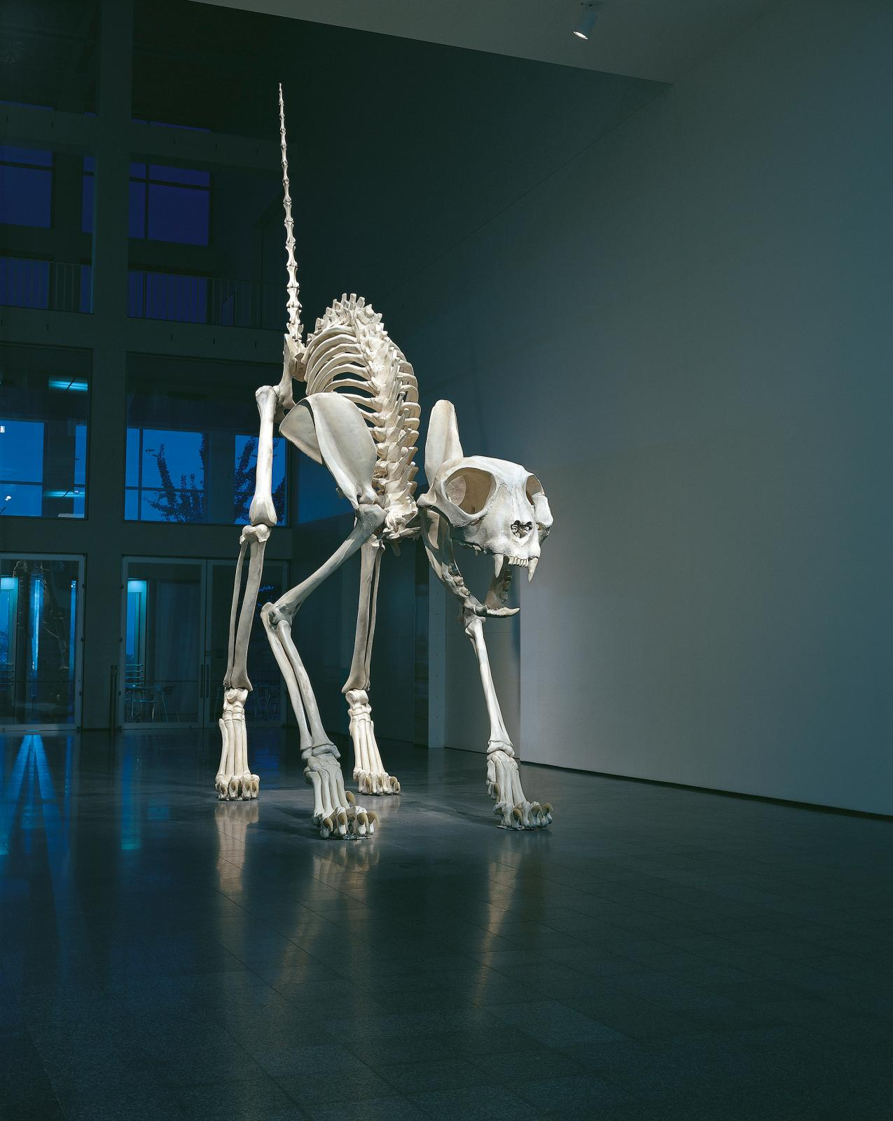 "Maurizio Cattelan (b. 1960), ""Felix"", 2001, oil on polyvinyl resin and fiberglass, 7.9 x 1.8 x 6.1 cm."
