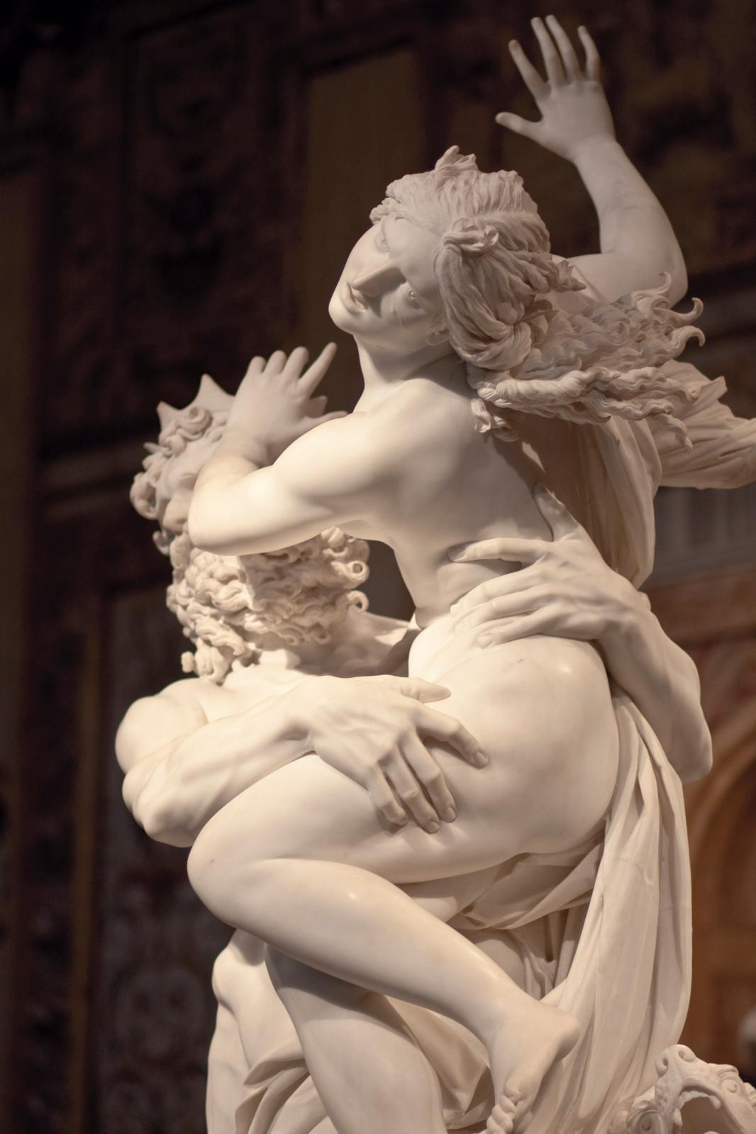 "Gian Lorenzo Bernini (1598-1680), ""The Rape of Proserpina"", c. 1621-1622, marble, 255 x 109 cm. Rome, Borghese Gallery."