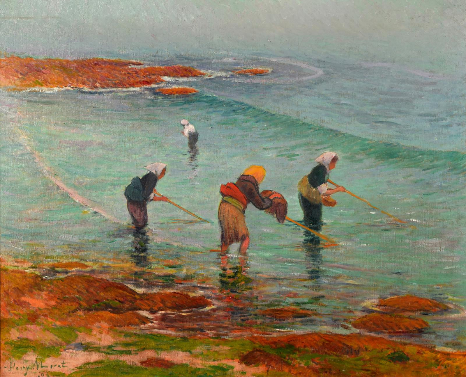 "Henry Moret (1856-1913), ""Les Pêcheuses"", 1894, oil on canvas, 60 x 73 cm.Sold for €323,290 by Thierry & Lannon on 6 May 2017."