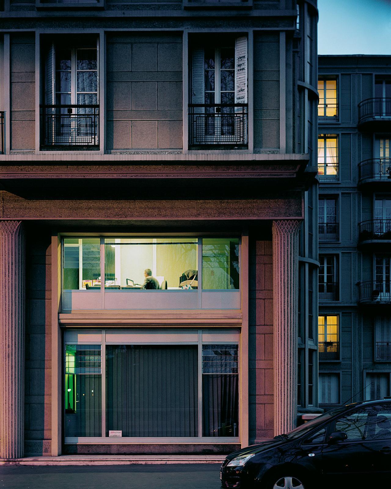 Véronique Ellena, Le Havre, un angle de l'avenue Foch, 2007, photographie contrecollée sur aluminium et sous Plexiglas, 100x80cm, LeHavre, musée d