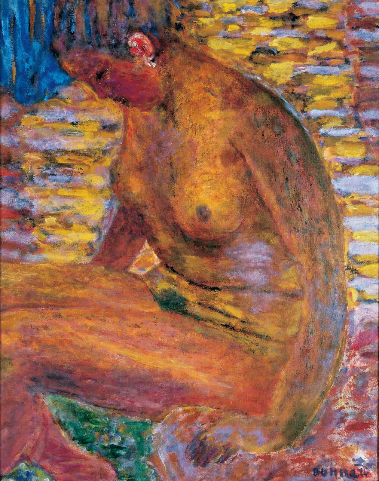 Pierre Bonnard(1867-1947), Nu sombre, 1941-1946, huile sur toile, 69x63cm.