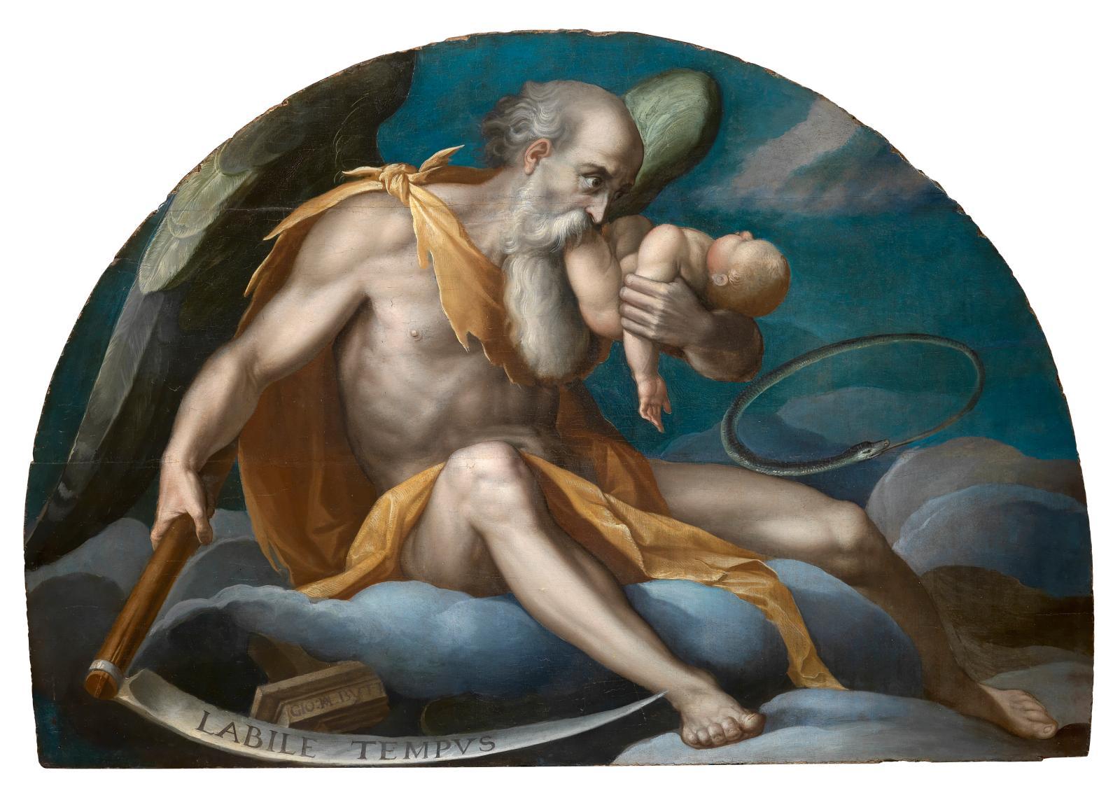 Giovanni Maria Butteri, Labile Tempus, Chronos, 1582-1585, huile sur panneau, 81x109 cm, collection privée.