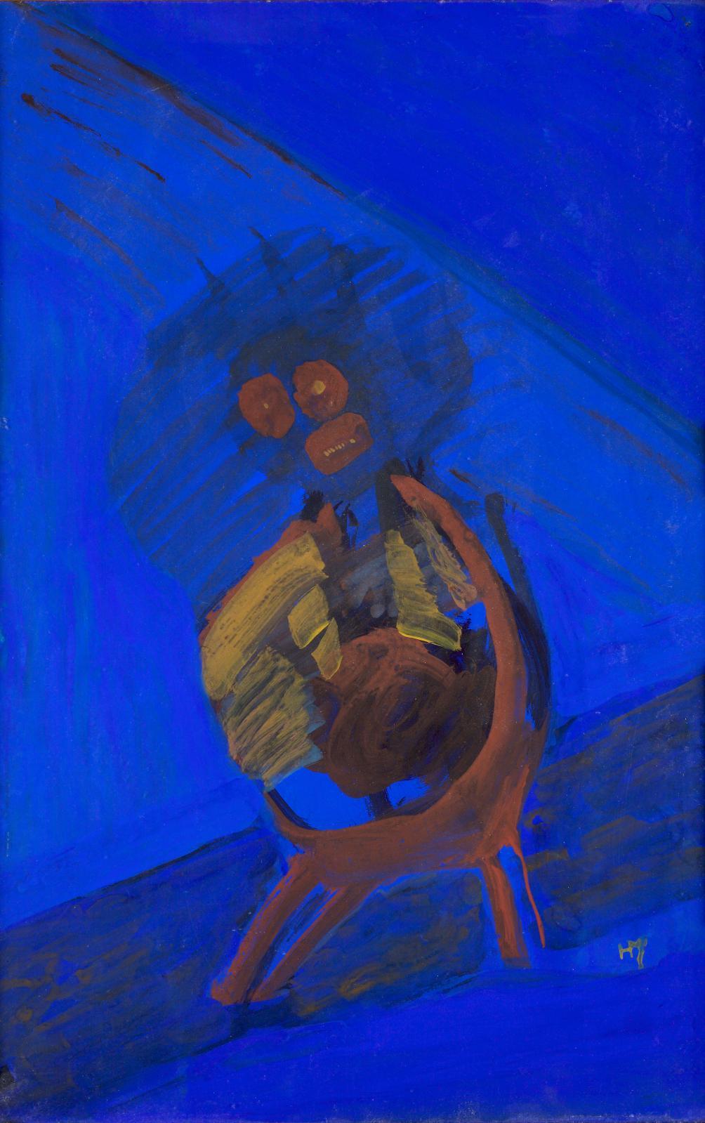 Henri Michaux, Le Clown, 1939, gouache sur papier, 50x32cm (détail). Estimation: 40000/60000€