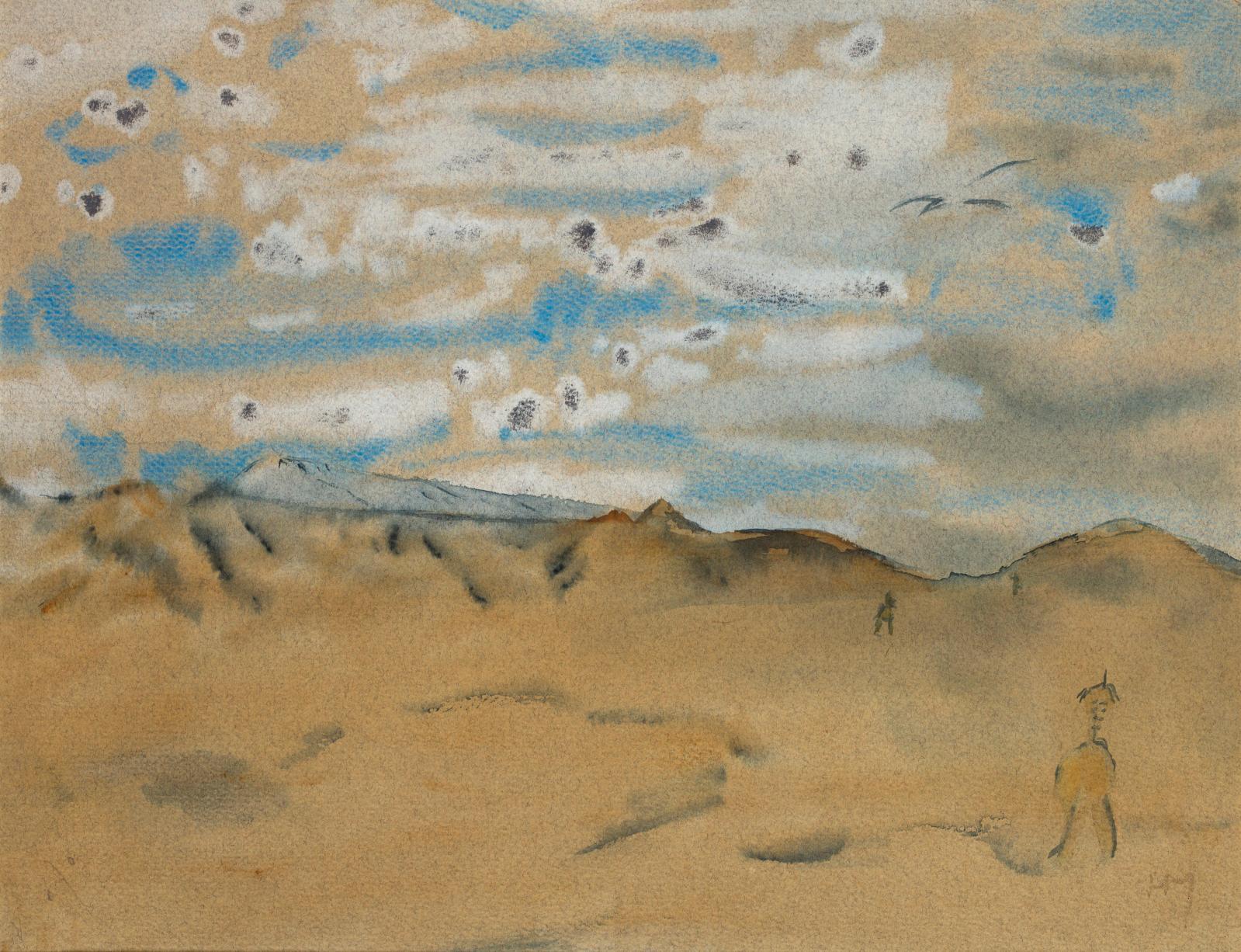 Henri Michaux, Mes propriétés, 1941, aquarelle et gouache sur papier, 22,8x29,8cm. Estimation: 18000/20000€