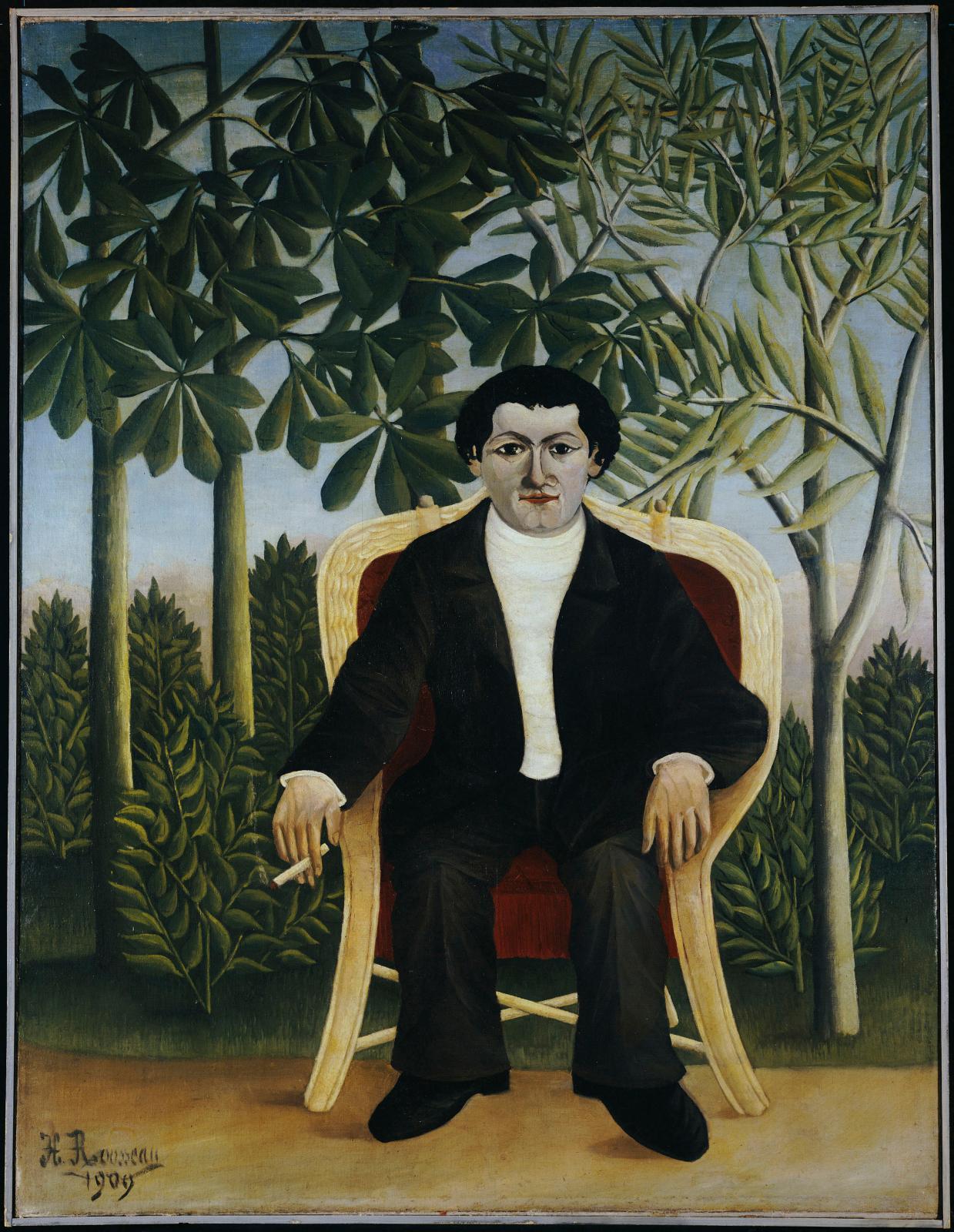 Un Portrait de Joseph Brummer par le Douanier Rousseau, 1909, (Londres, The National Gallery).