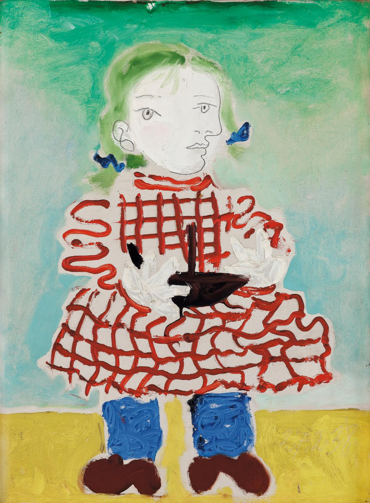 """Pablo Picasso (1881-1973), """"Maya au tablier"""", 1938. Picasso's daughter was aged 3 at the time."""
