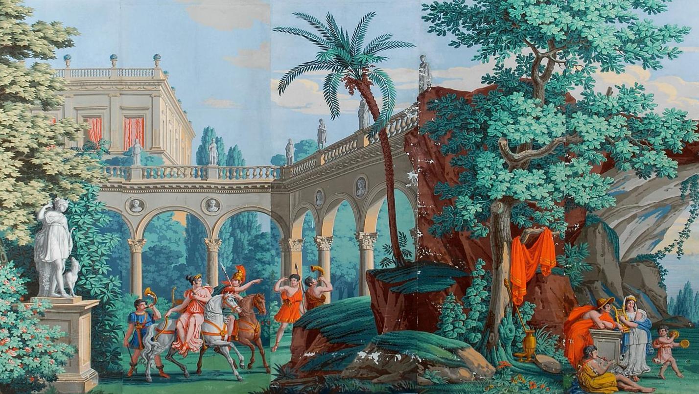 Papier Peint Panoramique Paysage après-vente les paysages idylliques de la manufacture dufour