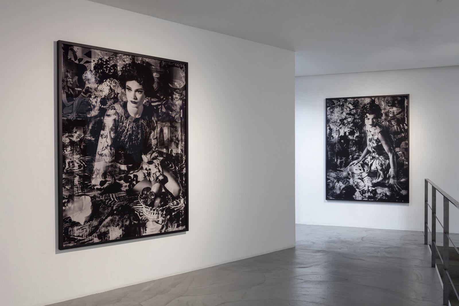 Vue de l'exposition de Valérie Belin, «China Girls», à la galerie Nathalie Obadia de Bruxelles, en 2018.