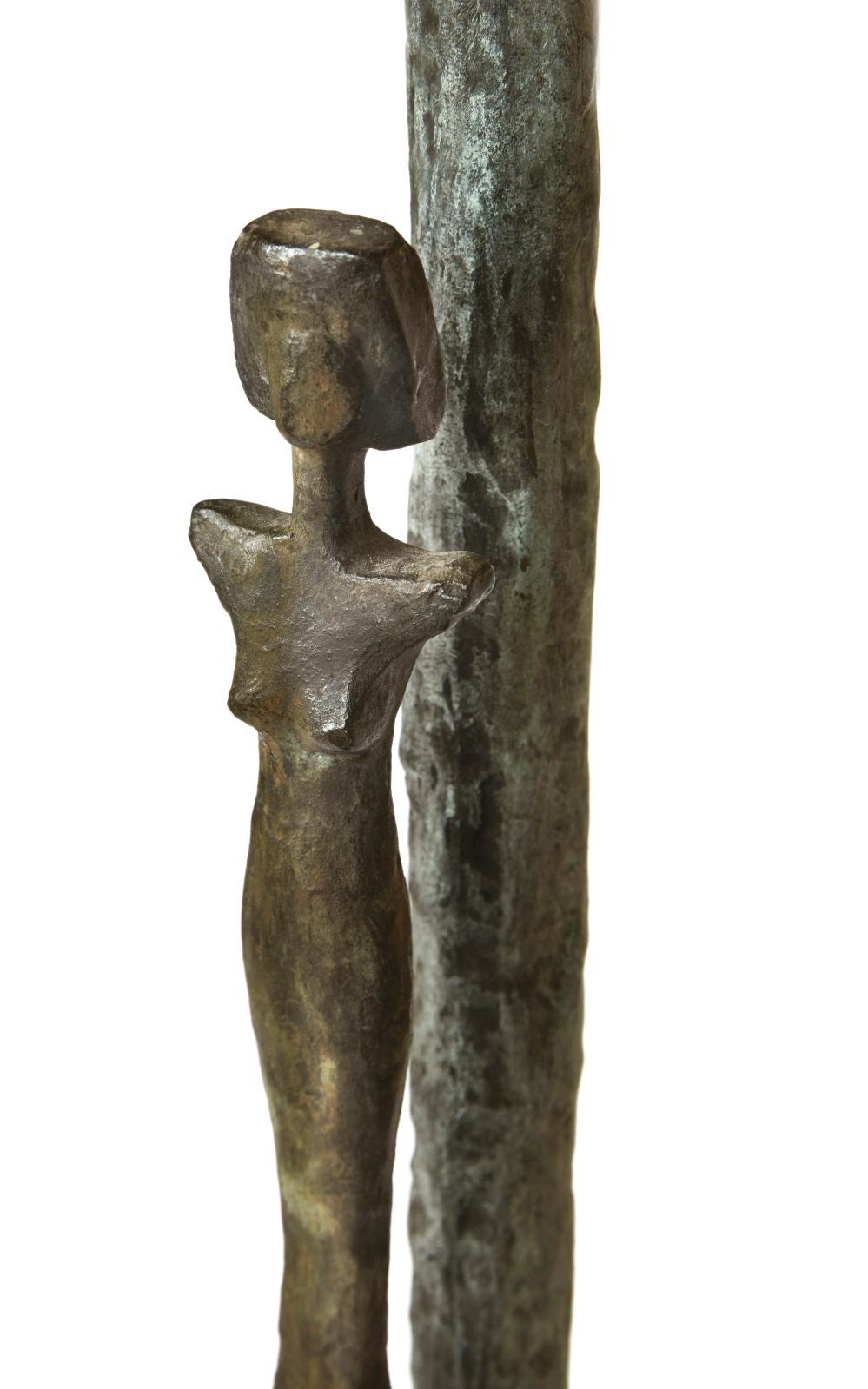 Détails de la table «aux caryatides et atlantes», 1980, bronze patiné, 82x162,5cm, anciennes collections Hubert deGivenchy.
