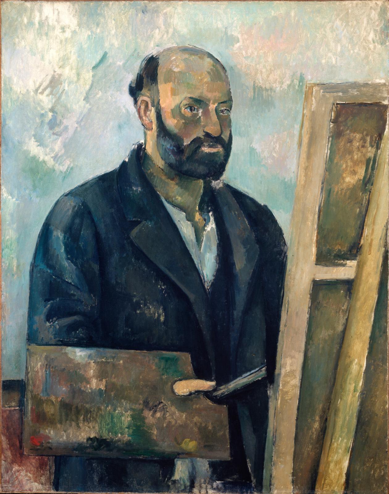 Paul Cézanne, Portrait de l'artiste à la palette, vers 1890, huile sur toile, 92x73cm. Collection Emil Bührle, Zurich.