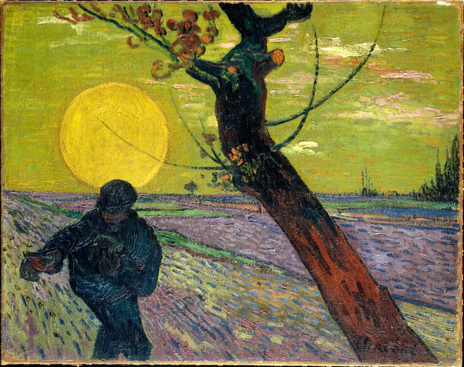 Vincent Van Gogh, Le Semeur, soleil couchant, 1888, huile sur toile, 73x92cm. Collection Emil Bührle, Zurich.