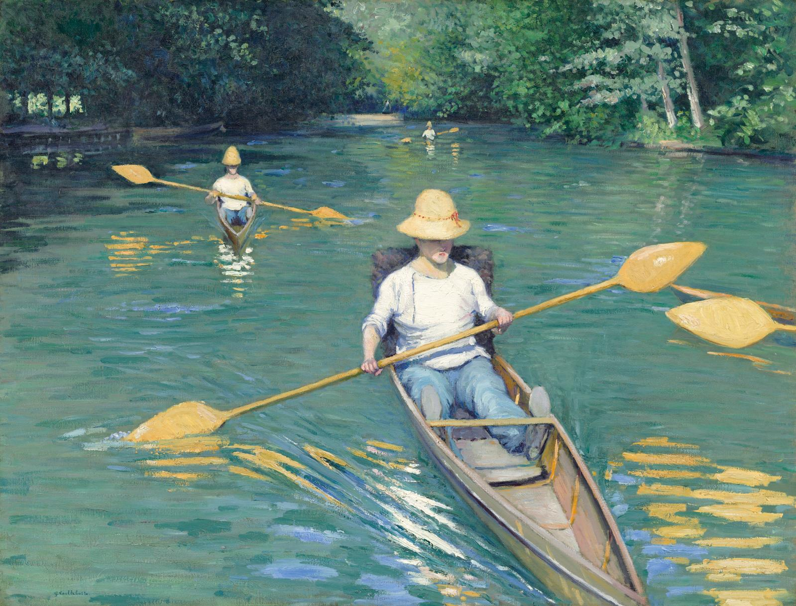 "Gustave Caillebotte (1848-1894), ""Périssoires sur l'Yerres"", oil on canvas, 1877, Milwaukee Art Museum."