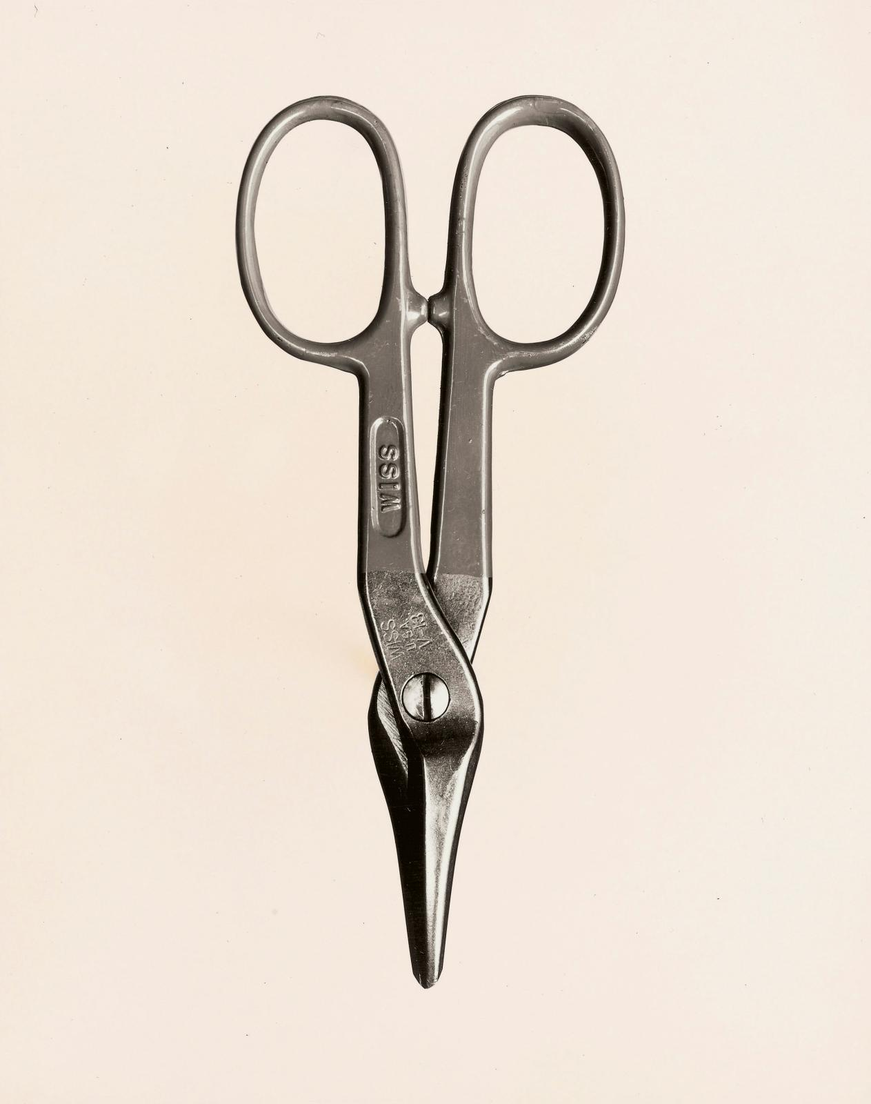 Walker Evans (1903-1975), Tin Snips by J. Wiss and Sons Co., $1.85, 1955, gelatin silver print, 25.2 x 20.3 cm, The J. Paul Getty Museum, Los Angeles.