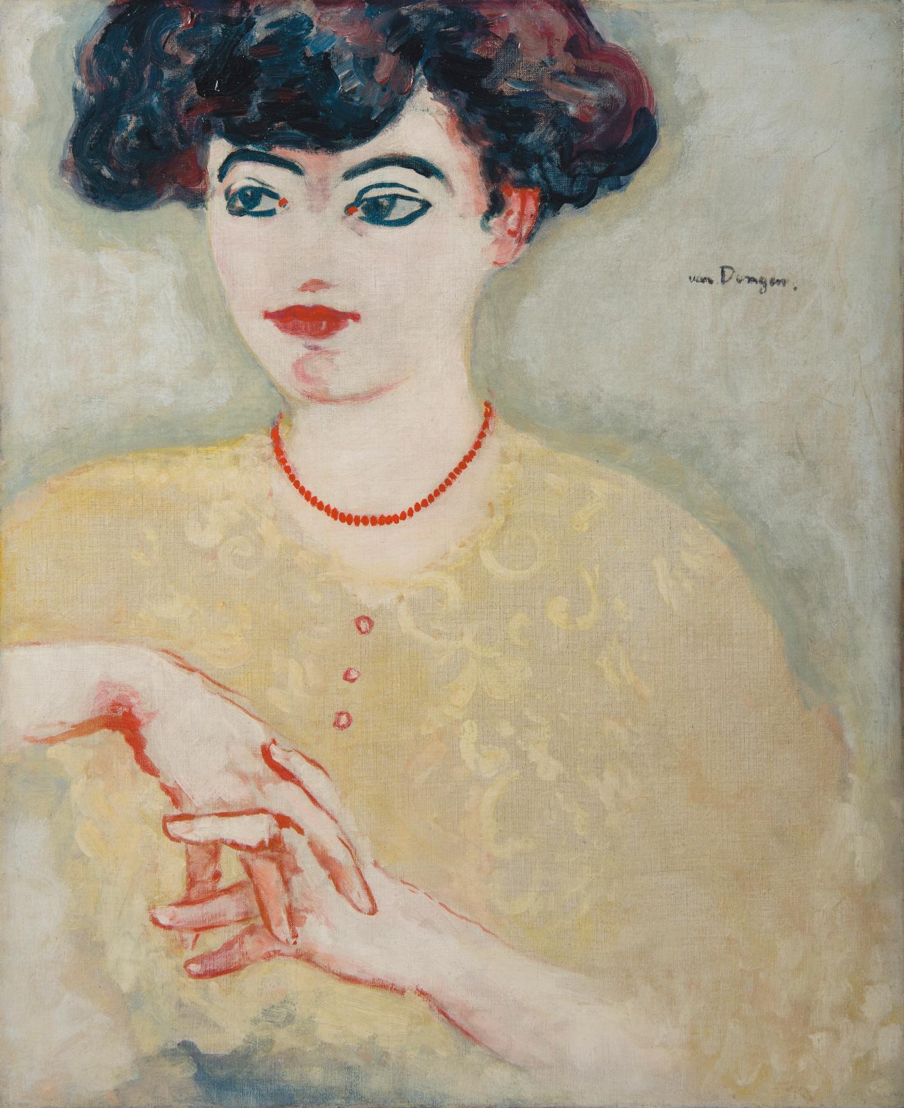 Kees Van Dongen, La Parisienne, vers 1906-1907,huile sur toile, 55x46cm, galerie Hélène Bailly, Paris.