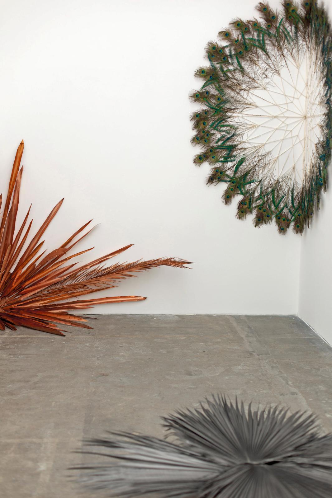 Vue de l'exposition «L'impermanence» (mai-septembre 2018), avec une œuvre de Marie Denis (née en 1976).
