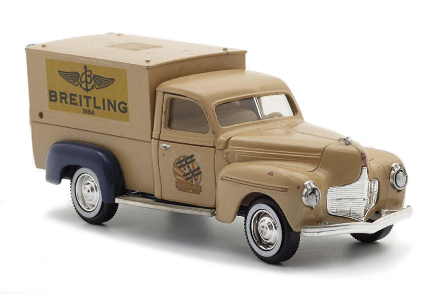 260€ Solido, voiture de livraison miniature avec le logo «Breitling 1884», 10x5cm. AvenueHoche, 22novembre2017. Cornette de SaintCyr maison de