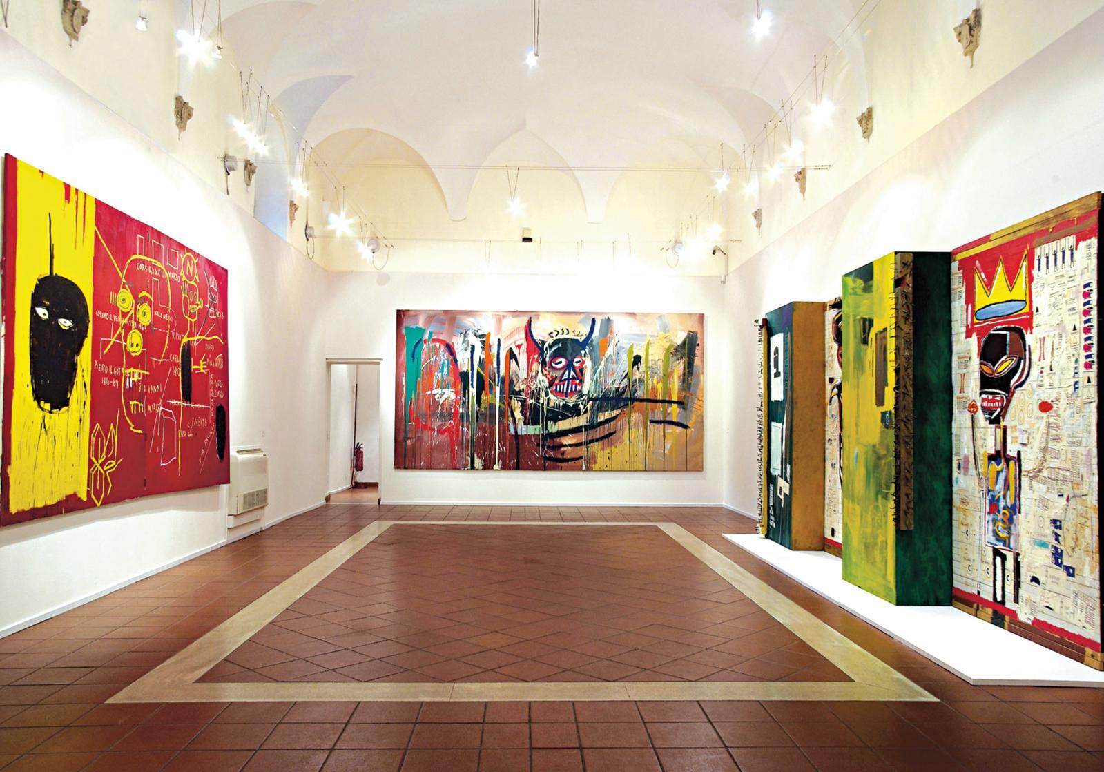 Exposition «Jean-Michel Basquiat, dipinti», chiostro del Bramante, Rome, Italie, 2002.