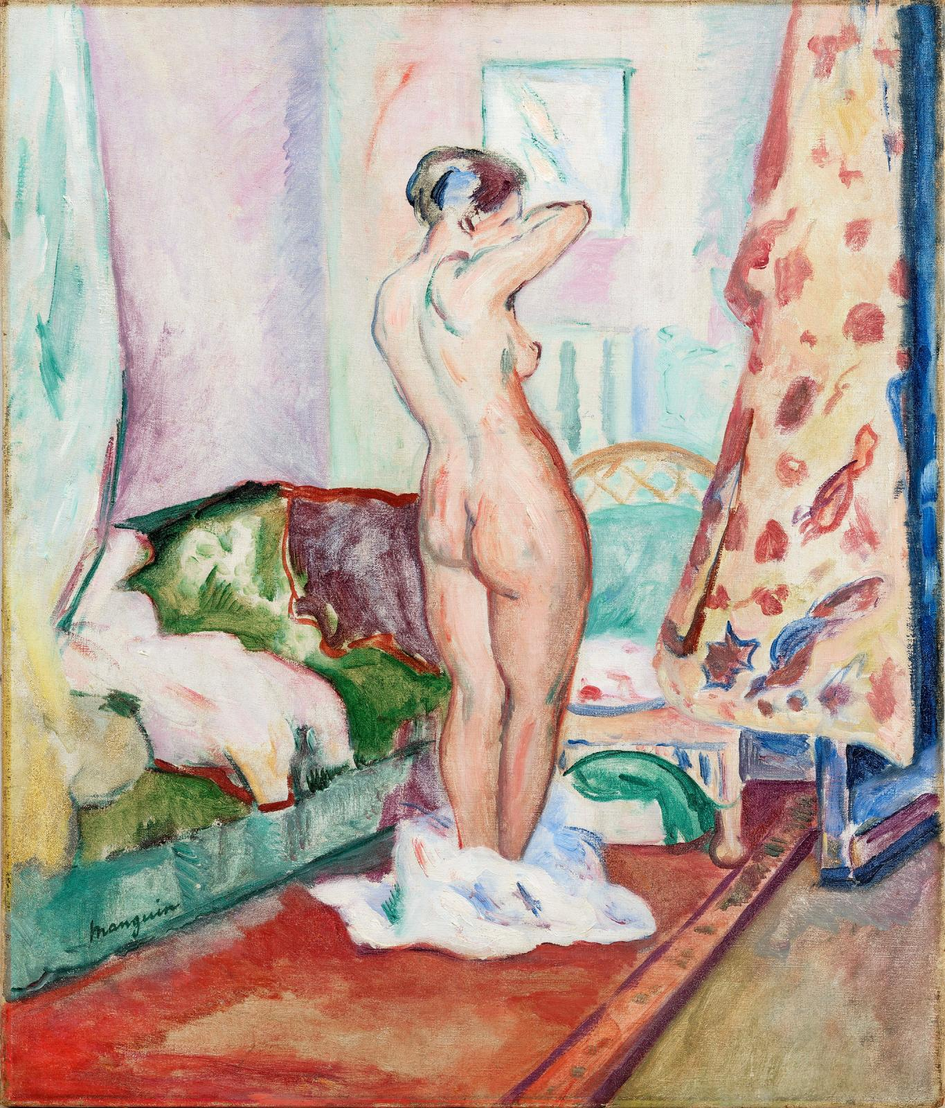 "Henri Manguin (1874-1949),  ""Intérieur, Nu debout"", 1916, oil on canvas, 75 x 60 cm. The work will be presented at the 2019 BRAFA."