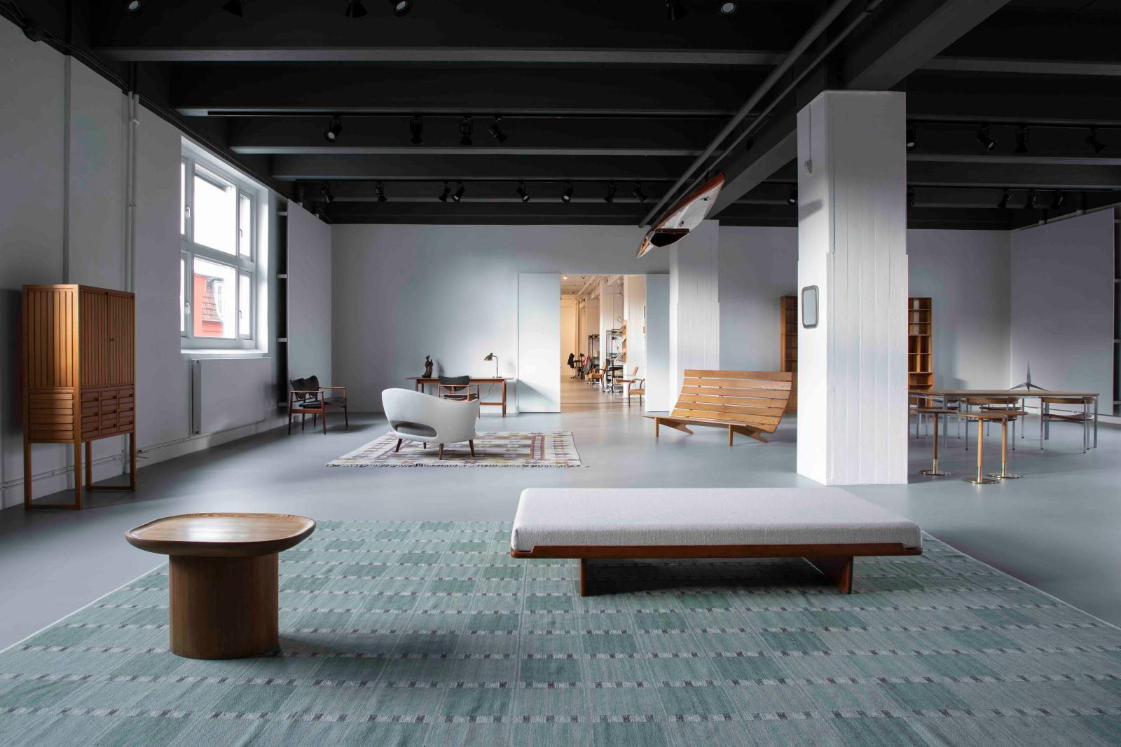 The Dansk Møbelkunst gallery in Copenhagen contains a showroom, a furniture restoration workshop and archives on Danish furniture designers and factor