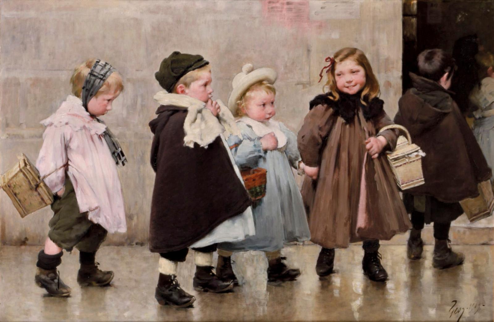 Provenant de la collection Auguste Dubois, architecte à Roubaix, et restée dans sa descendance jusqu'à ce jour, une séduisante toile (85 x 130 cm) de