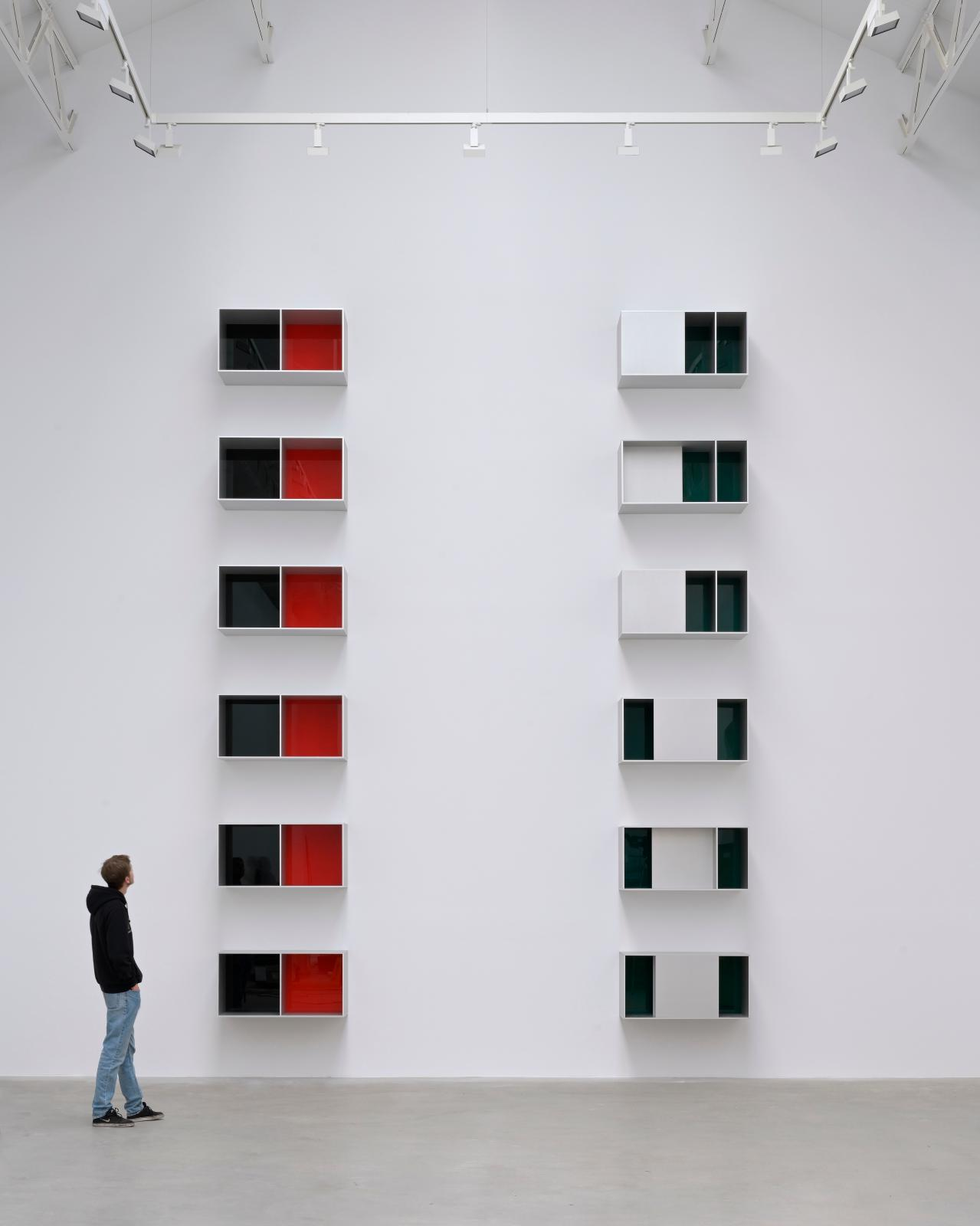 Donald Judd (1928-1994), Untitled, 1988 and Untitled, 1988, anodized aluminium and Plexiglas.
