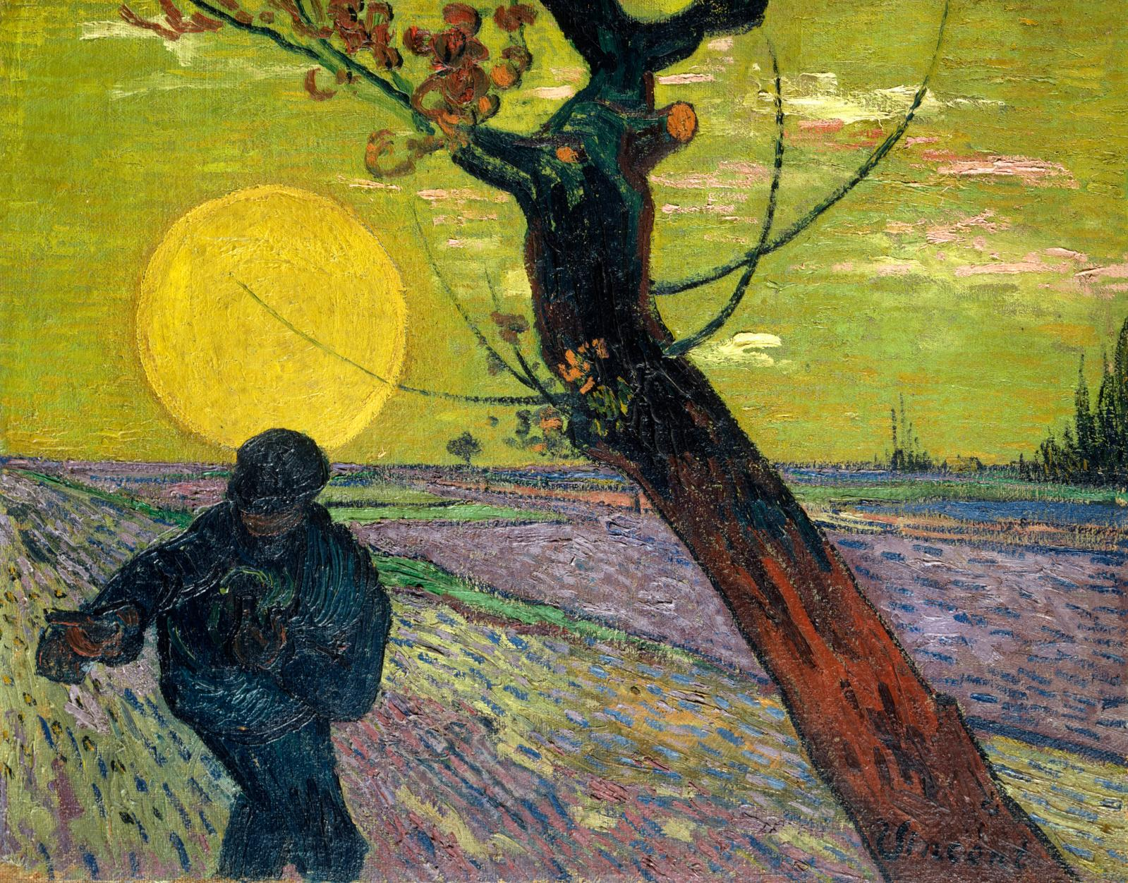 "Vincent Van Gogh (1853-1890),  ""Le Semeur, soleil couchant"", 1888, oil on canvas, 73 x 92 cm (detail). Emil Bührle Collection, Zurich."