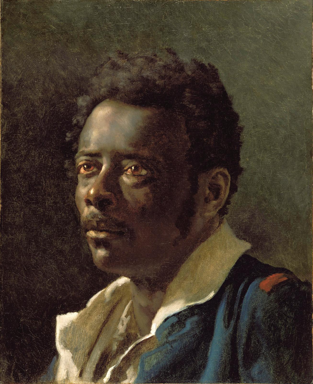 Théodore Géricault (1791-1824), Étude d'homme, d'après le modèle Joseph, vers 1818-1819, dit aussi Le Nègre Joseph, huile sur toile, 47x38,7cm.