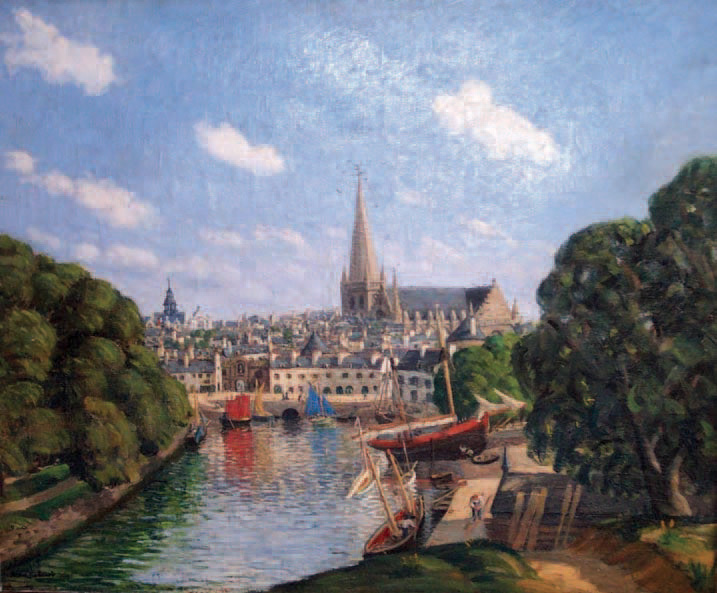 Jean Frélaut (1879-1954)Le Port de Vannes,huile sur toile, 50 x 60 cm. Lorient, 30/11/2002.Hôtel des ventes de Bretagne Atlantique SVV.8 500 €