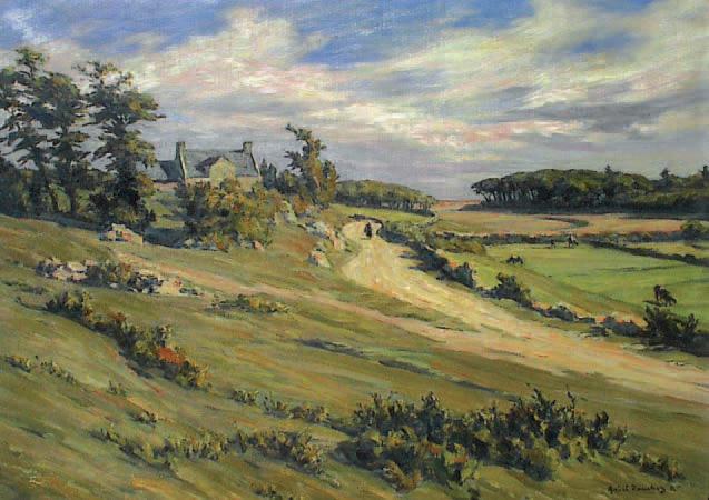 André DauchezChemin en Bretagne, huile sur toile.L'Isle-Adam, 27/7/2003, Liladam Enchères SVV.4 000 €