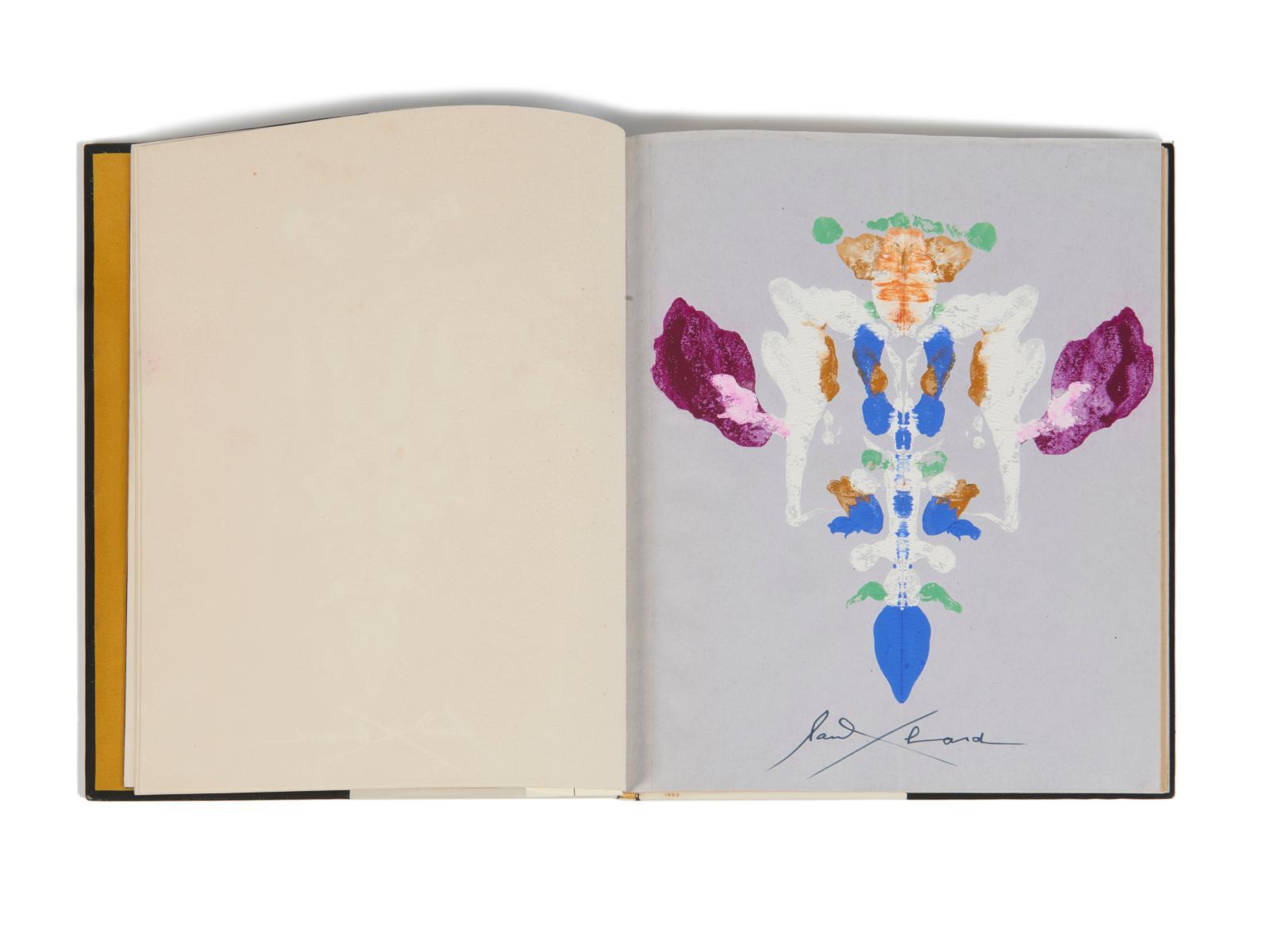 Paul Éluard(1895-1952), Le Livre ouvertIII, manuscrit autographe avec gouaches originales, vers 1944 reliure mosaïquée de Paul Bonet reproduite page