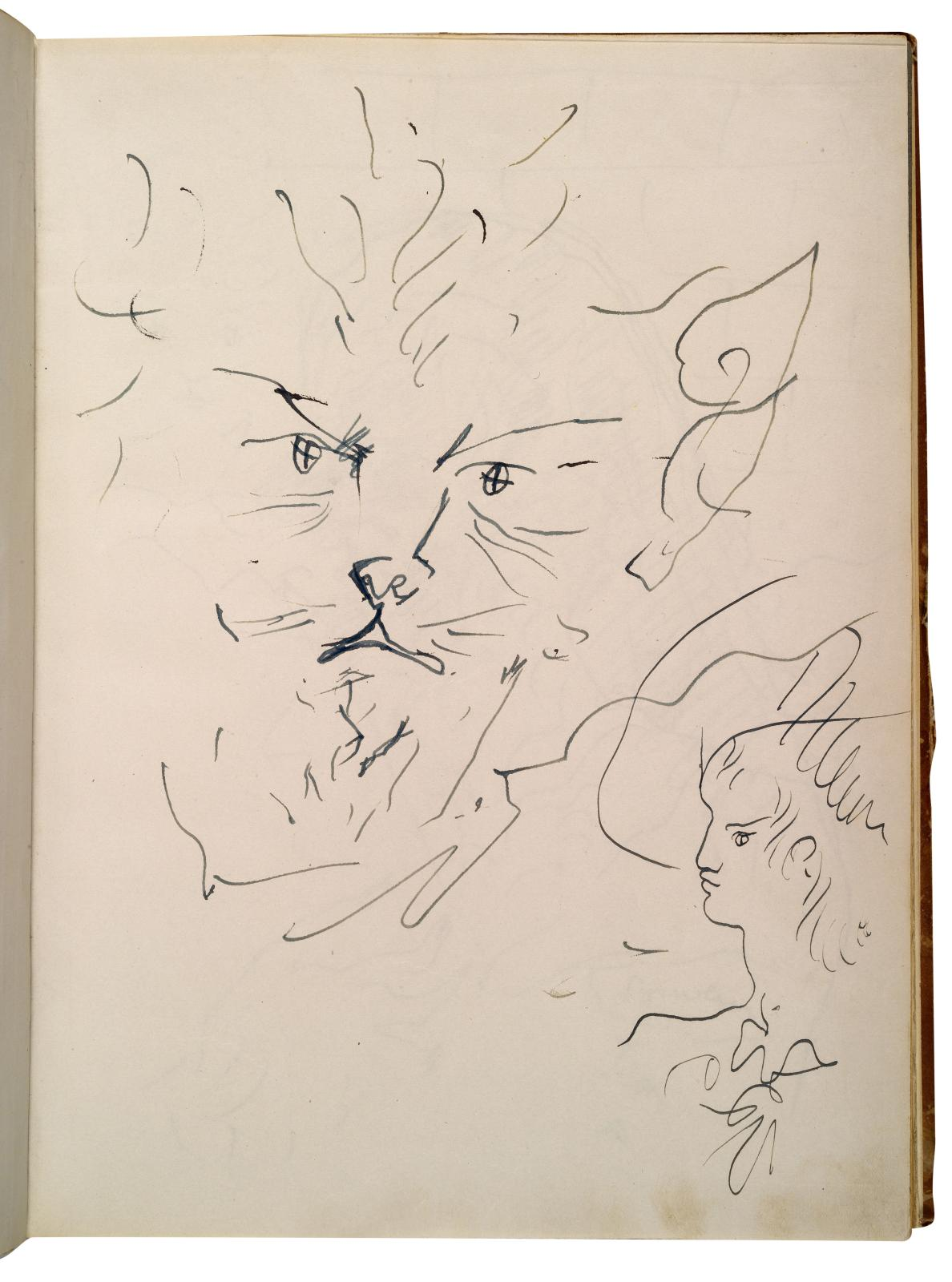 Jean Cocteau (1889-1963), La Belle et la Bête. Journal d'un film, manuscrits autographes et album de quatre-vingt-neufphotographies du tournage. Merc
