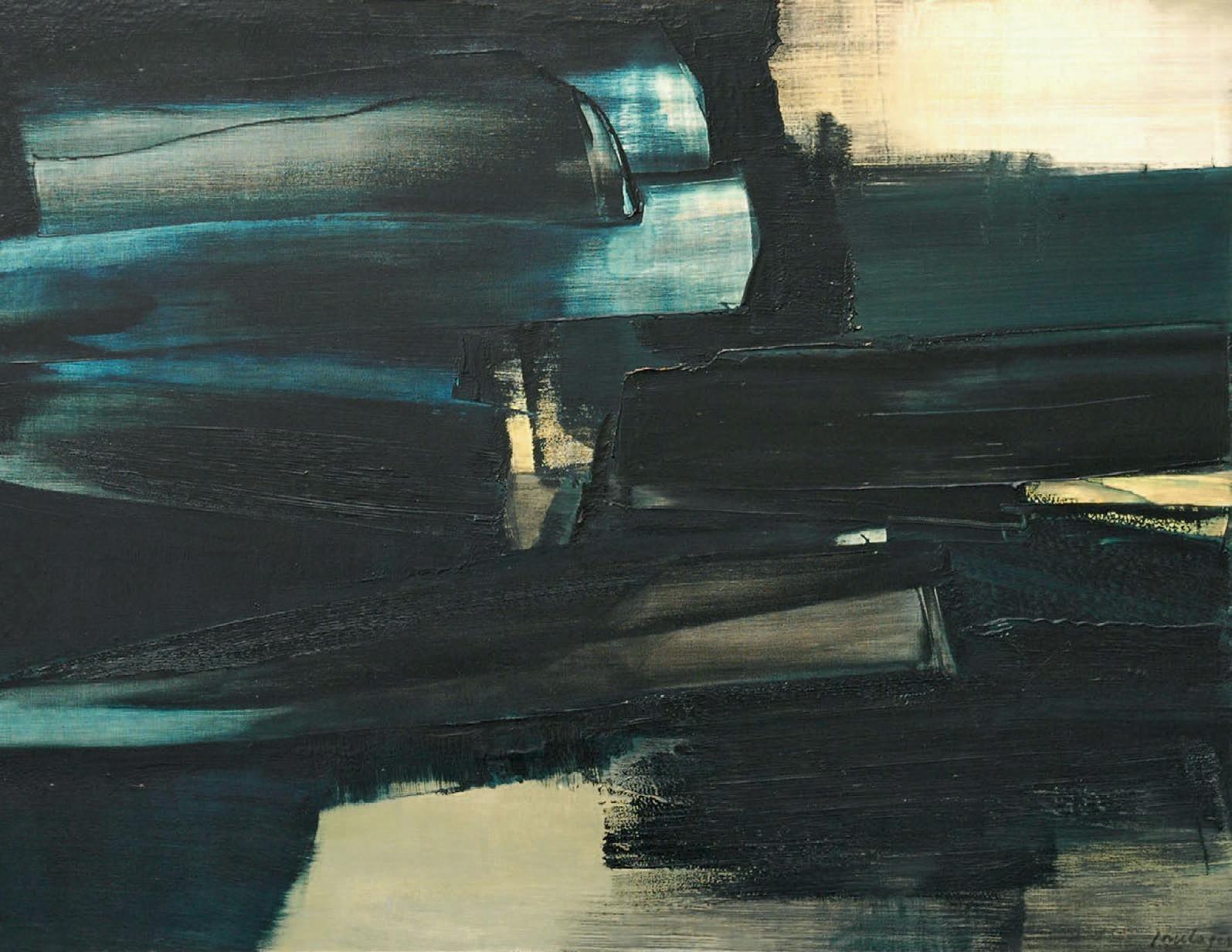 Pierre Soulages, Peinture, 1962, huile sur toile, 97 x 130 cm.Versailles, 25 juin 2006.Versailles Enchères SVV.491 000 € frais compris.