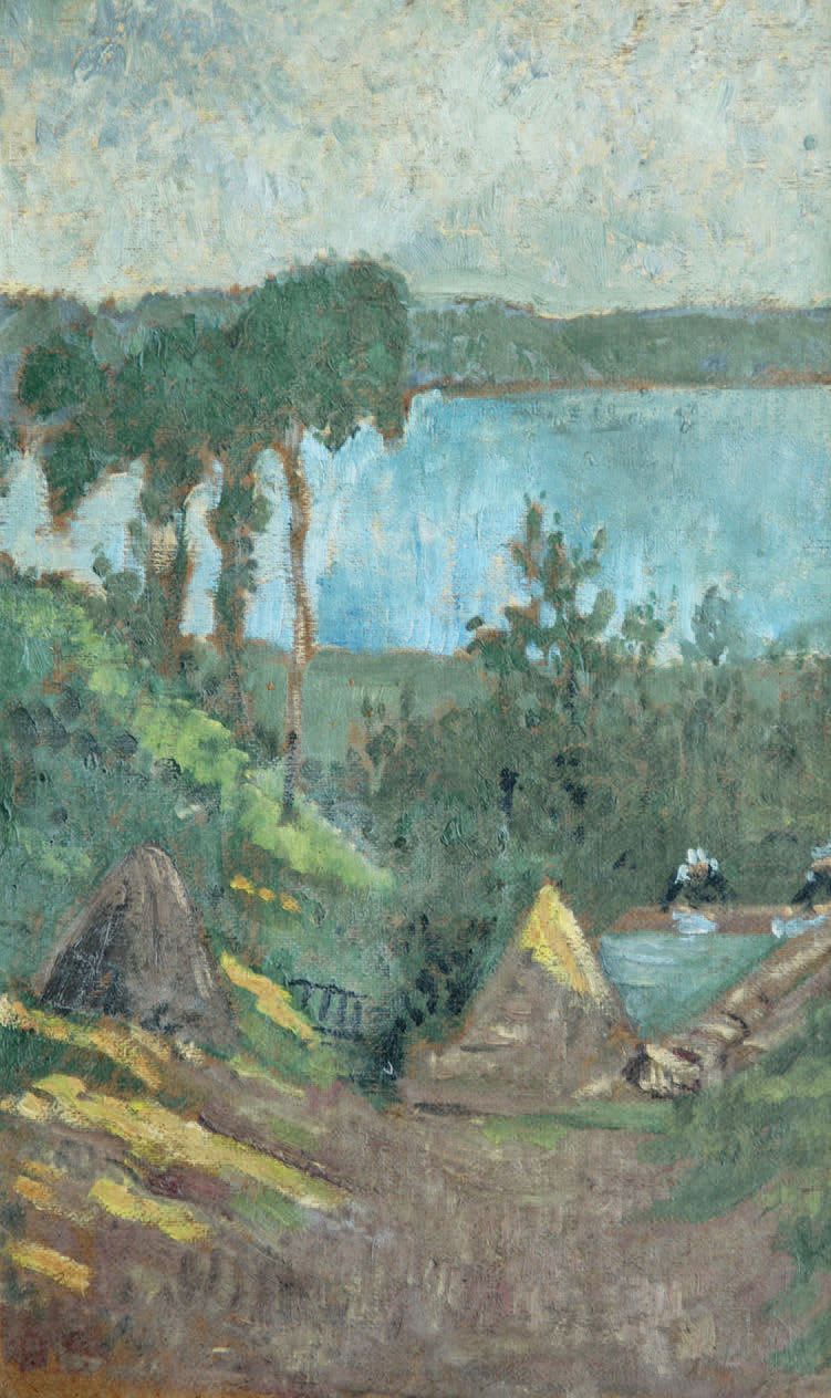 Paul Sérusier (1864-1927), Les Lavandières au Bas Pouldu, vers 1895, huile sur toile, 51,5x32cm.Brest, dimanche13mai2007, Thierry - Lannon & Ass