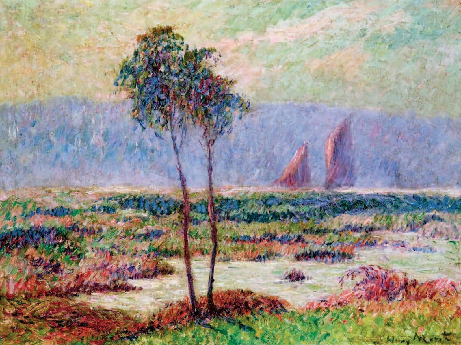 Henry Moret (1856-1913), Rivière à Pont-Aven, huile sur toile, 40x61cm.Paris, espace Tajan, jeudi3mai2007, Tajan SVV.38230€ frais compris
