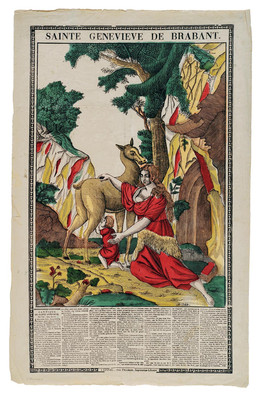 Sainte Geneviève de Brabant, à Épinal chez Pellerin (1837), 60,3 x 35,4 cm.
