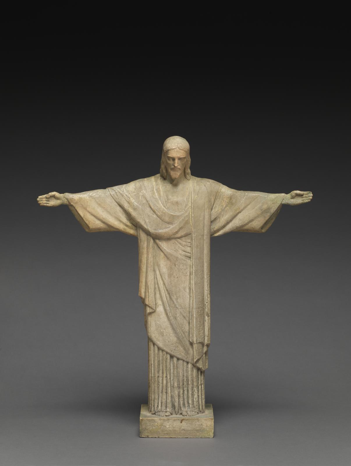 page de droite Paul Landowski (1875-1961), Christ rédempteur, 1926, maquette originale du monument érigé sur le mont Corcovado à Rio deJaneiro, inaug