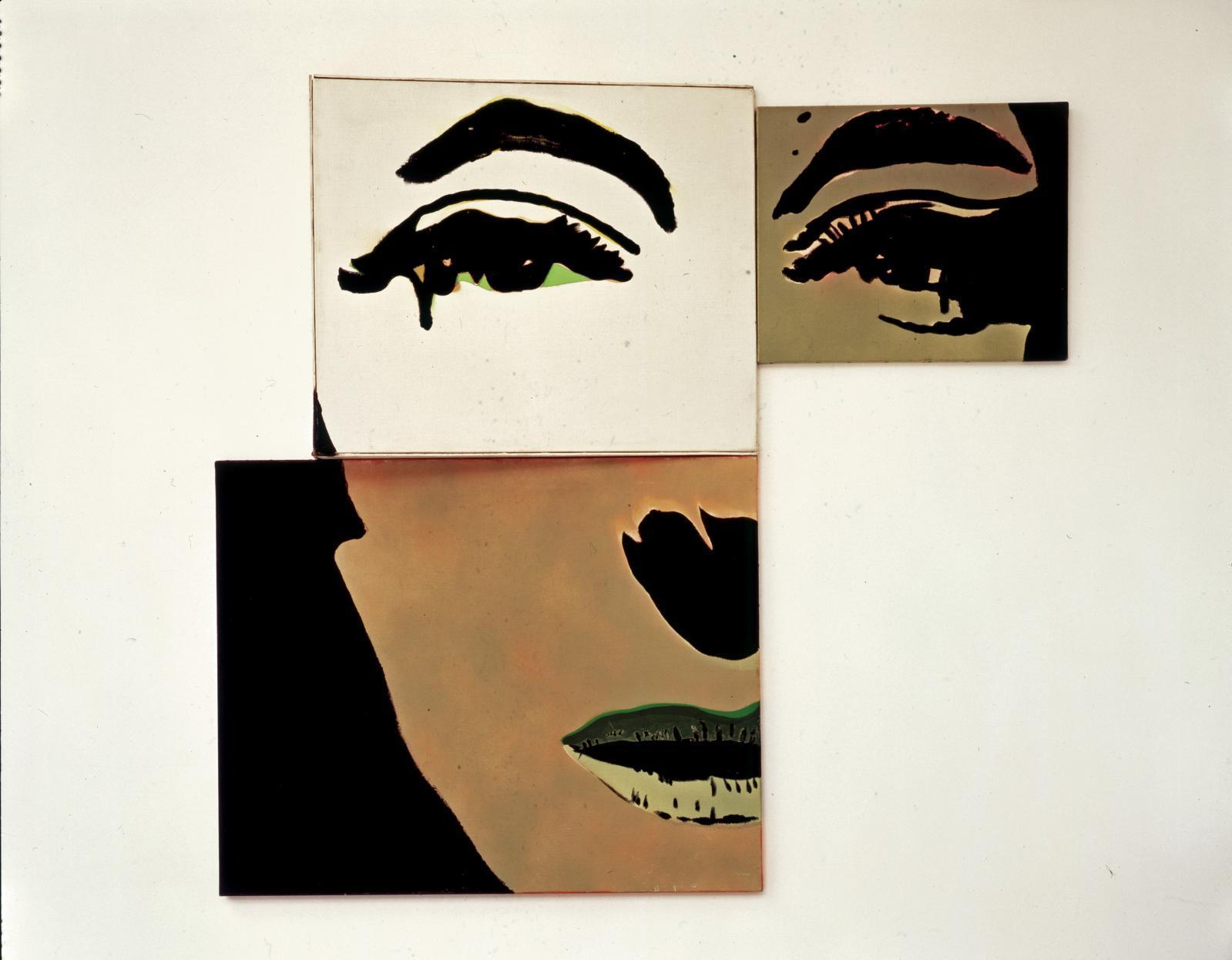 Martial Raysse (né en 1936), Portrait à géométrie variable deuxième possibilité, 1966. COURTESY COLLECTION MARIN KARMITZ, PARIS