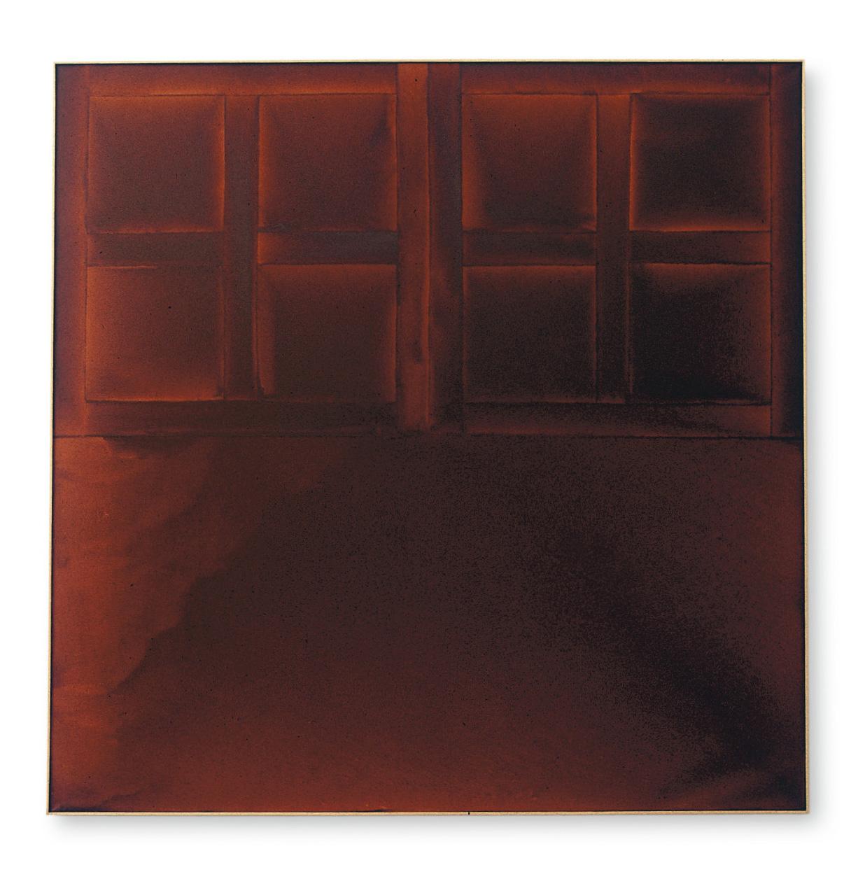 James Bishop (né en 1927), State, 1972, huile sur toile, 182,9x183,2cm, détail.